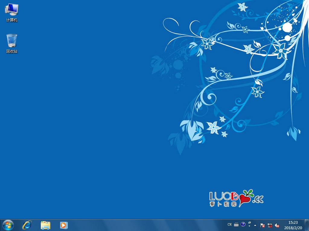 萝卜家园Win732位旗舰版技术员联盟系统 LUOBO GHOST WIN7 X86 SP1 技术员联盟专用系统桌面